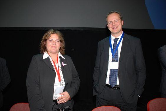 Siri Meling (H) og Ketil Solvik-Olsen (Frp), energi- og miljøkomiteen 2009-2013. Bildet er tatt på Nerec 2009.