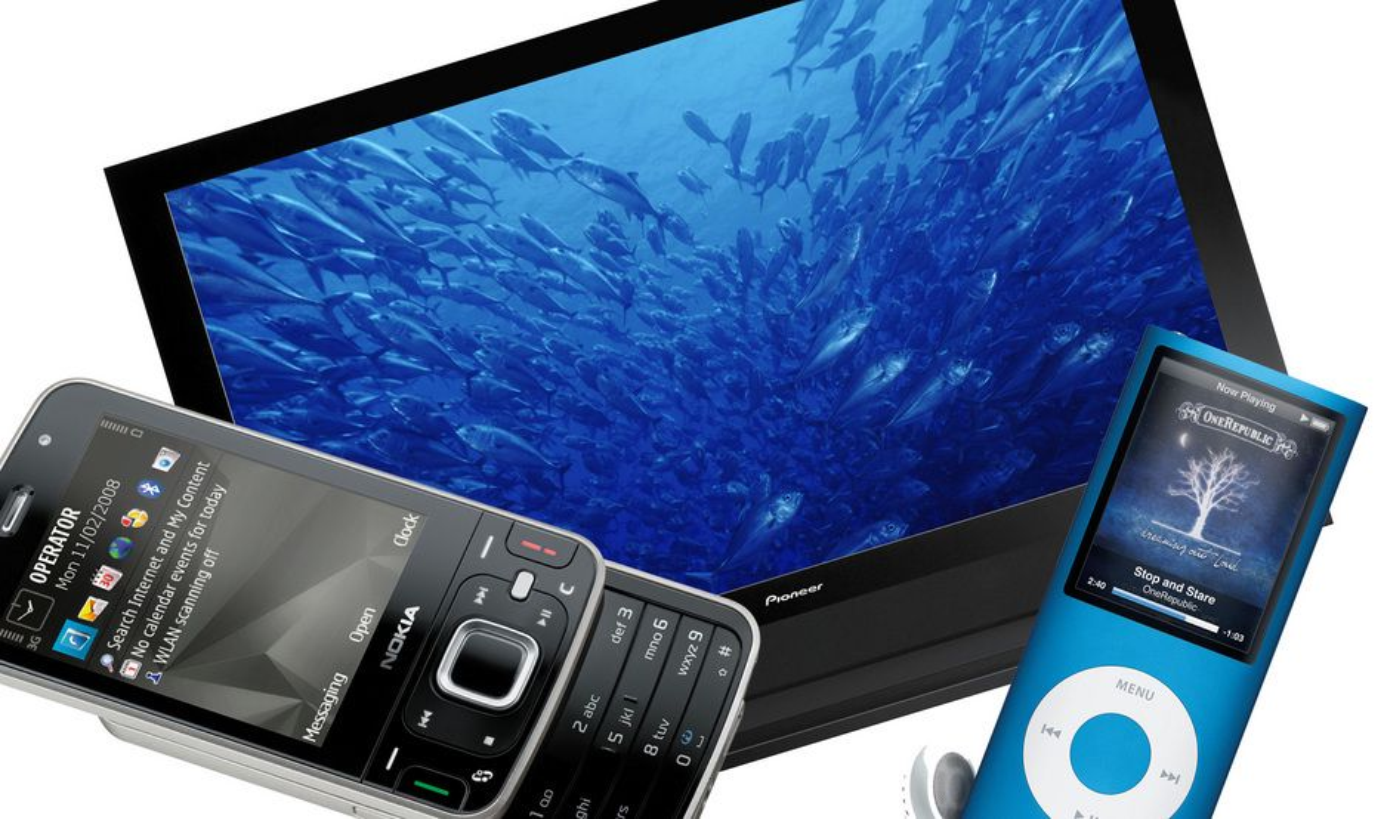 Rør-TV-ene er døde. Nå er det flatt som gjelder. Men elektronikksalget gikk ned i 2008.