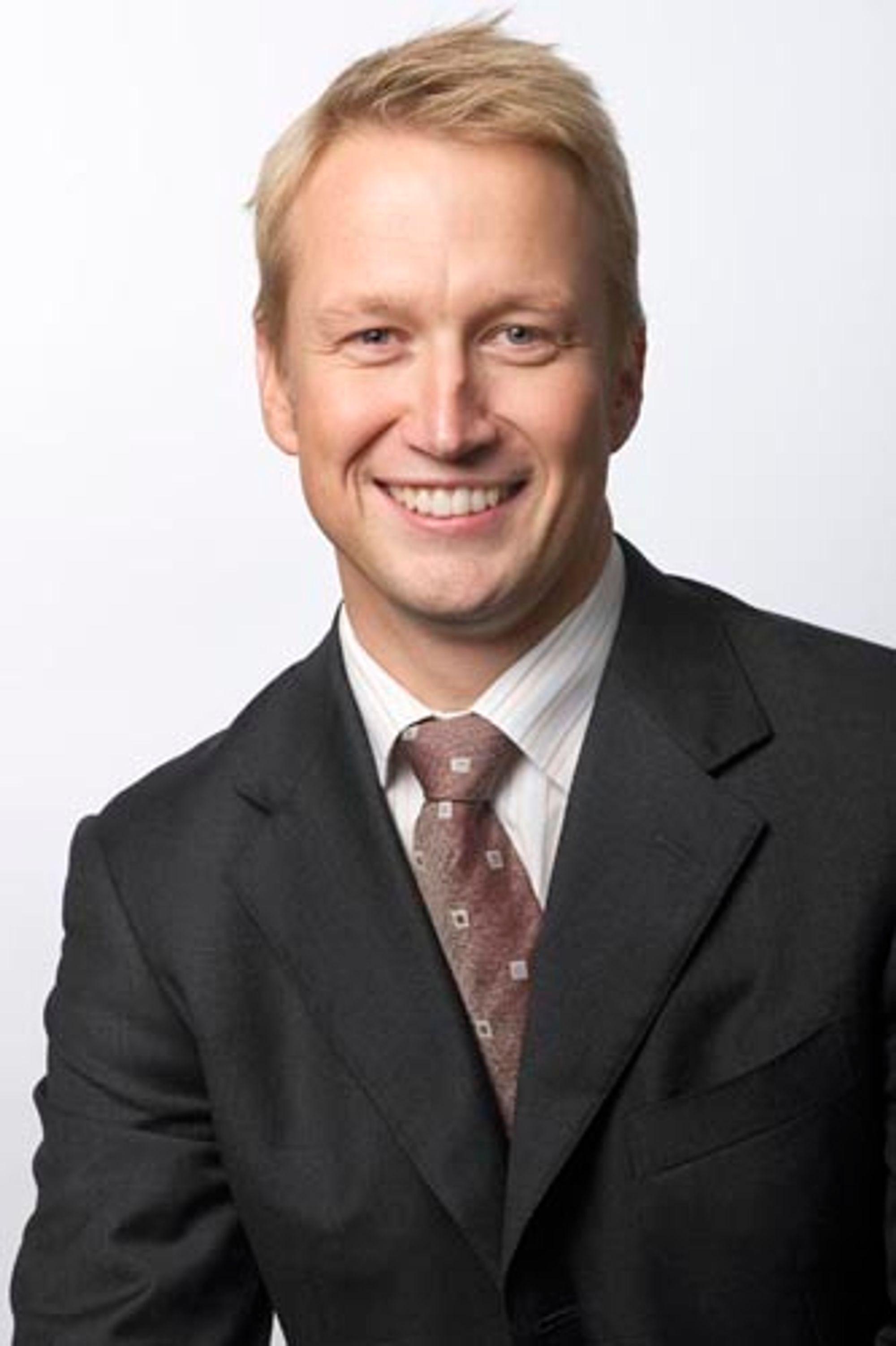 GRUNN TIL Å SMILE:Tandbergs europasjef, Geir Olsen, gleder seg over kraftig vekst i salget.