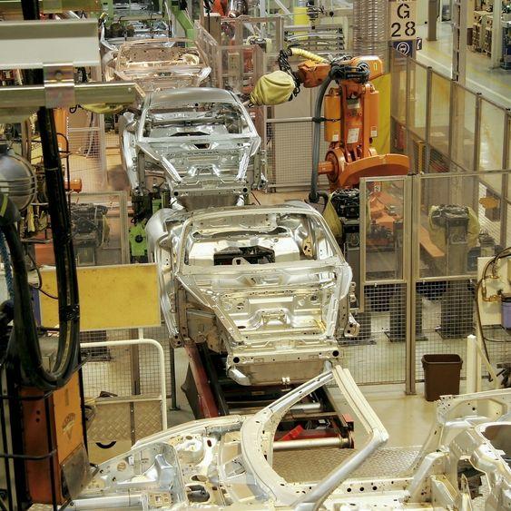 Valmet Automotive produksjonslinje