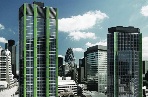 Britisk rapport om klimatiltak. Bygninger med CO2-fangende alger som lager bioenergi i vannfylte rør.