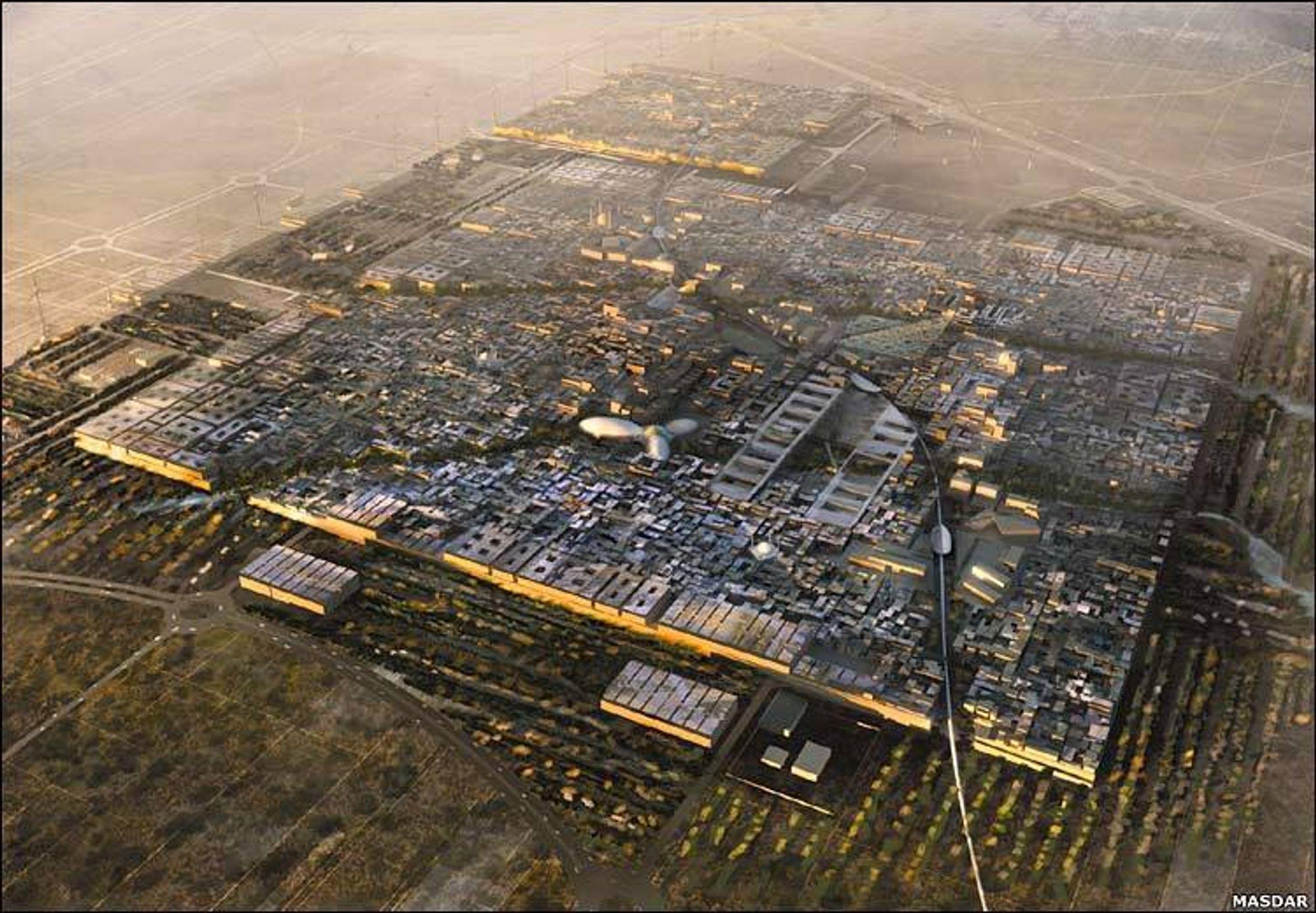 Fremtidsby: Masdar City ville blitt verdens første karbonnøytrale by.