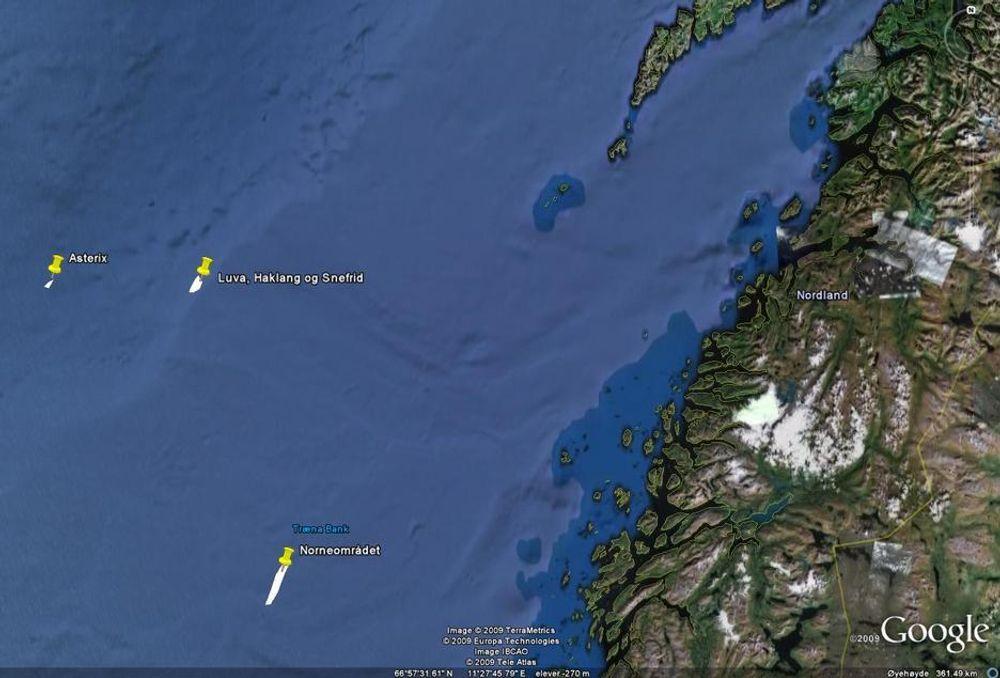 LANGT UT: Feltene som Statoil nå planlegger å bygge ut sammen med partnerne ExxonMobil og ConocoPhillips ligger svært langt til havs og kan bli den første feltutbygggingen på Vøringplatået.