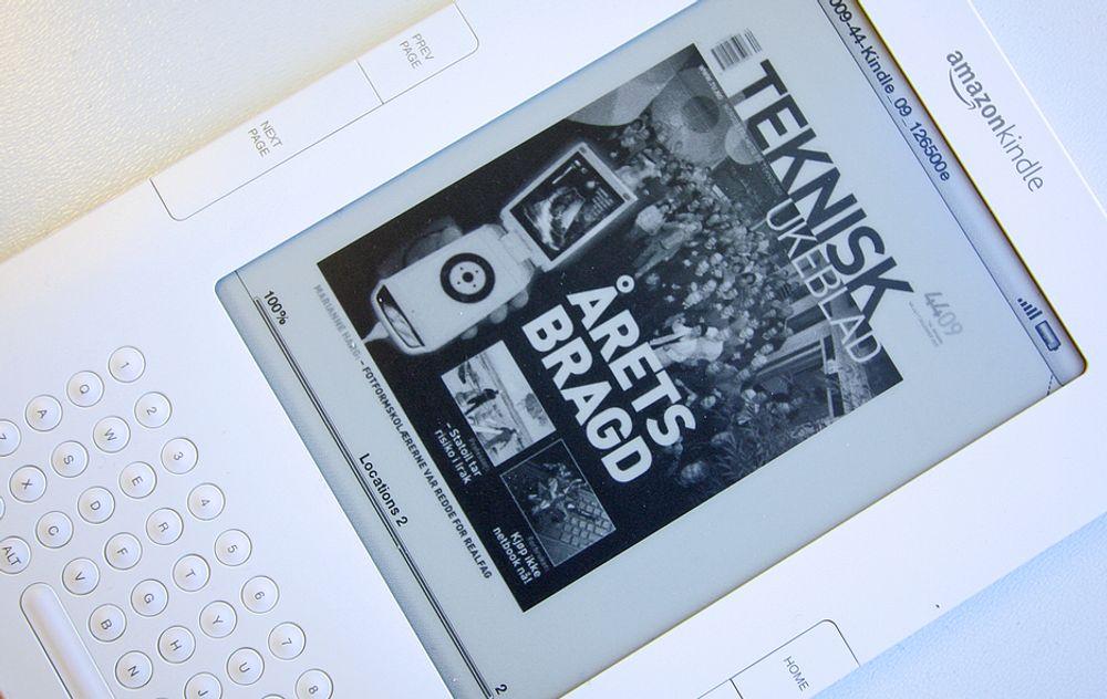Årets siste utgave av Teknisk Ukeblad, nummer 44, er nå å finne i Amazons Kindle-butikk.