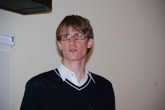 Daniel Rees, prosjektleder for TNS Gallups Klimabarometer, lagt fram 3. juni 2009.