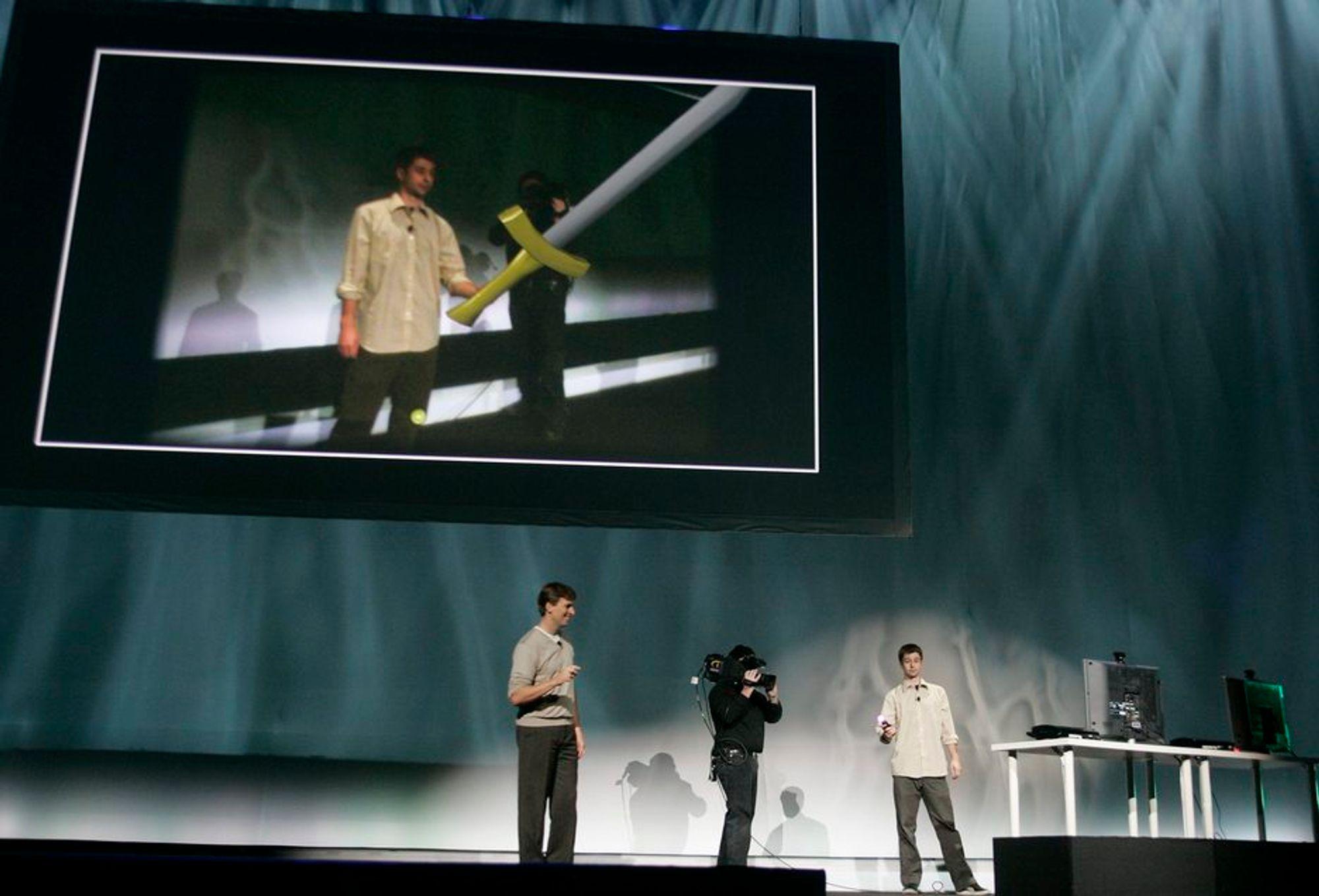 Sony demonstrerer sin nye bevegelsessensor på spillmessen E3.