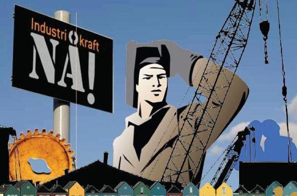 STREIKET: 10.000 industriarbeidere streiket for bedre kraftavtaler forrige onsdag. De mener regjeringen har brutt løftet om et nytt industrikraftregime.