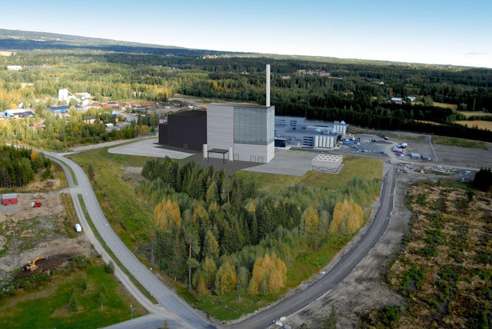 Trehørningen-anlegget på Hamar er Eidsivas største bioenergisatsing.