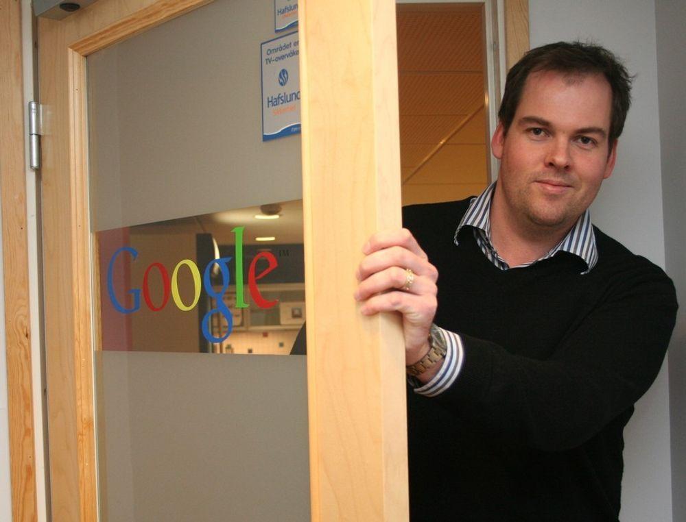 Magne Risvik og resten av staben ved Google-kontoret i Trondheim får i dag beskjed om å flytte for å beholde jobbene.