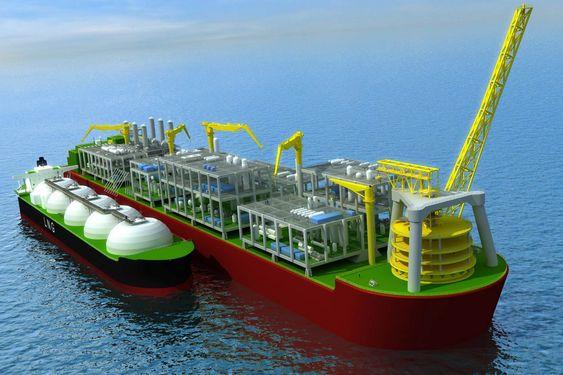 Flytende LNG-prosessanlegg. Shell, Technip og Samsung. FLNG