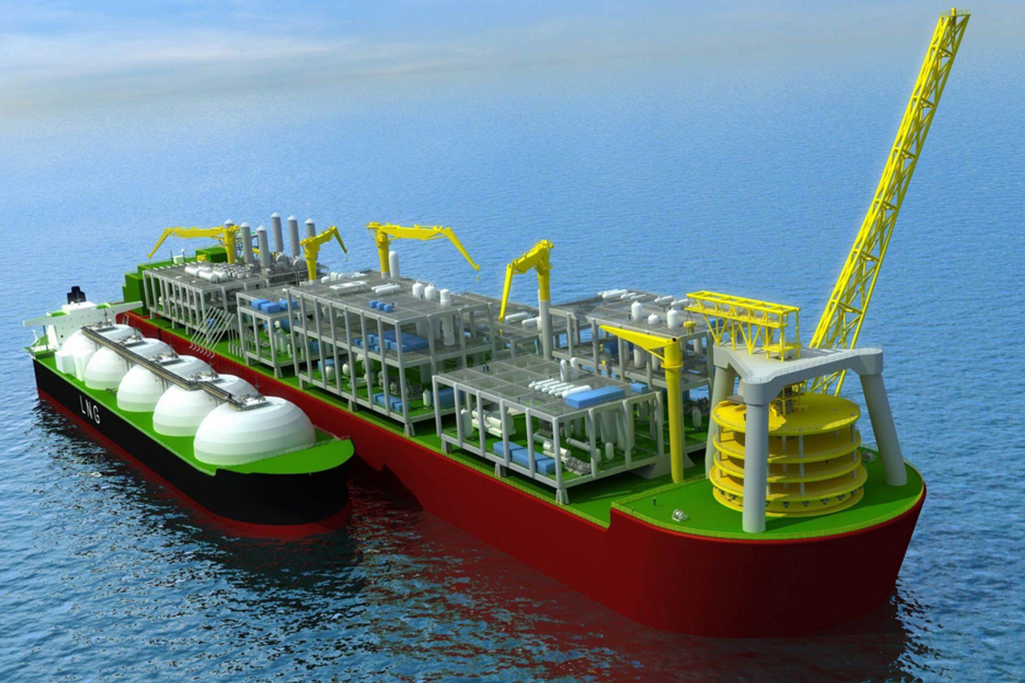 OPTIMISTER: Shell håper kontraktene vil bidra til at de iløpet av få år har klar en prototyp av et flytende LNG-prosessanlegg.