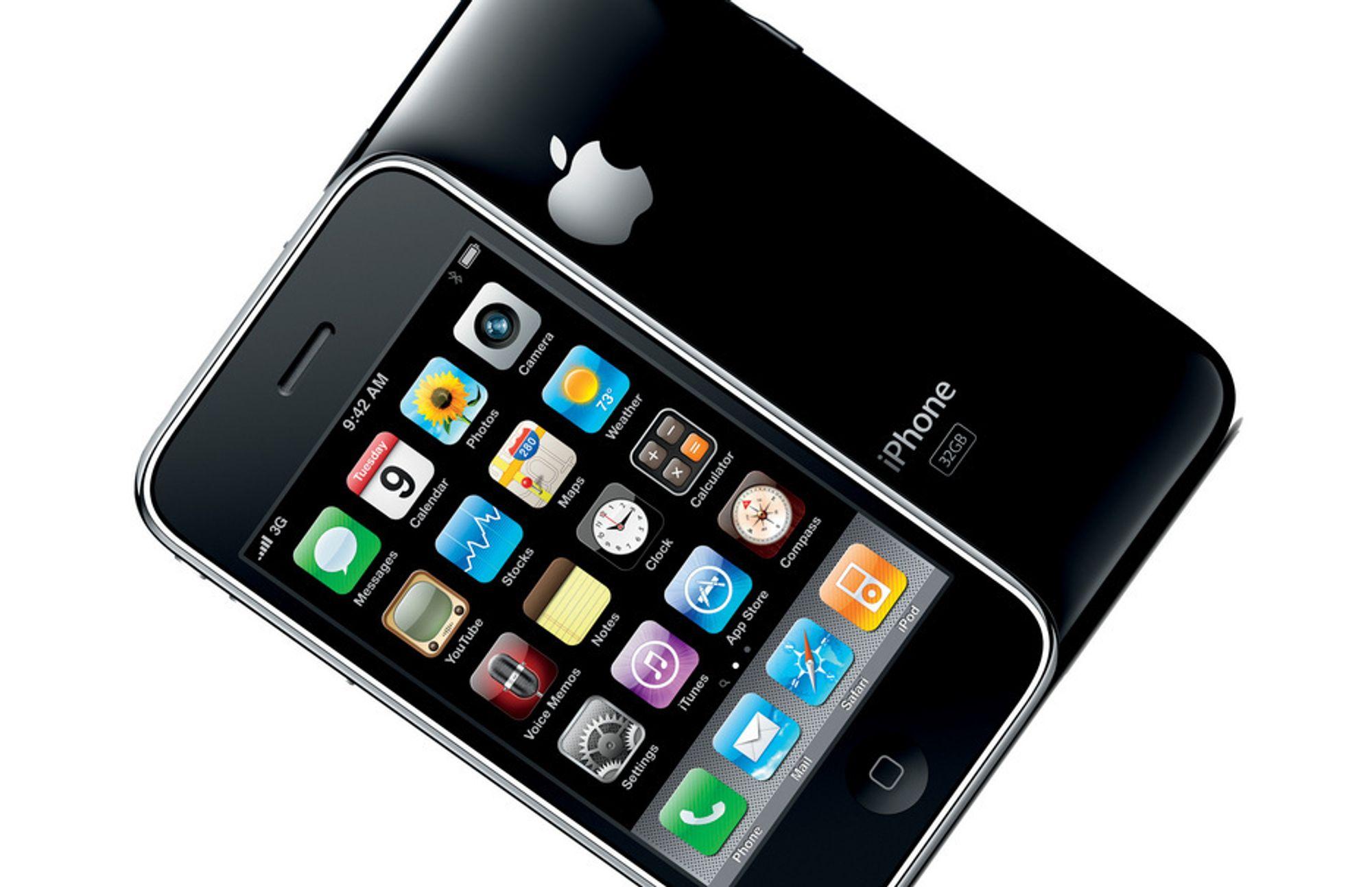 iPhone 3GS fås fra 4038 kroner første år med Telenor-abonnement.
