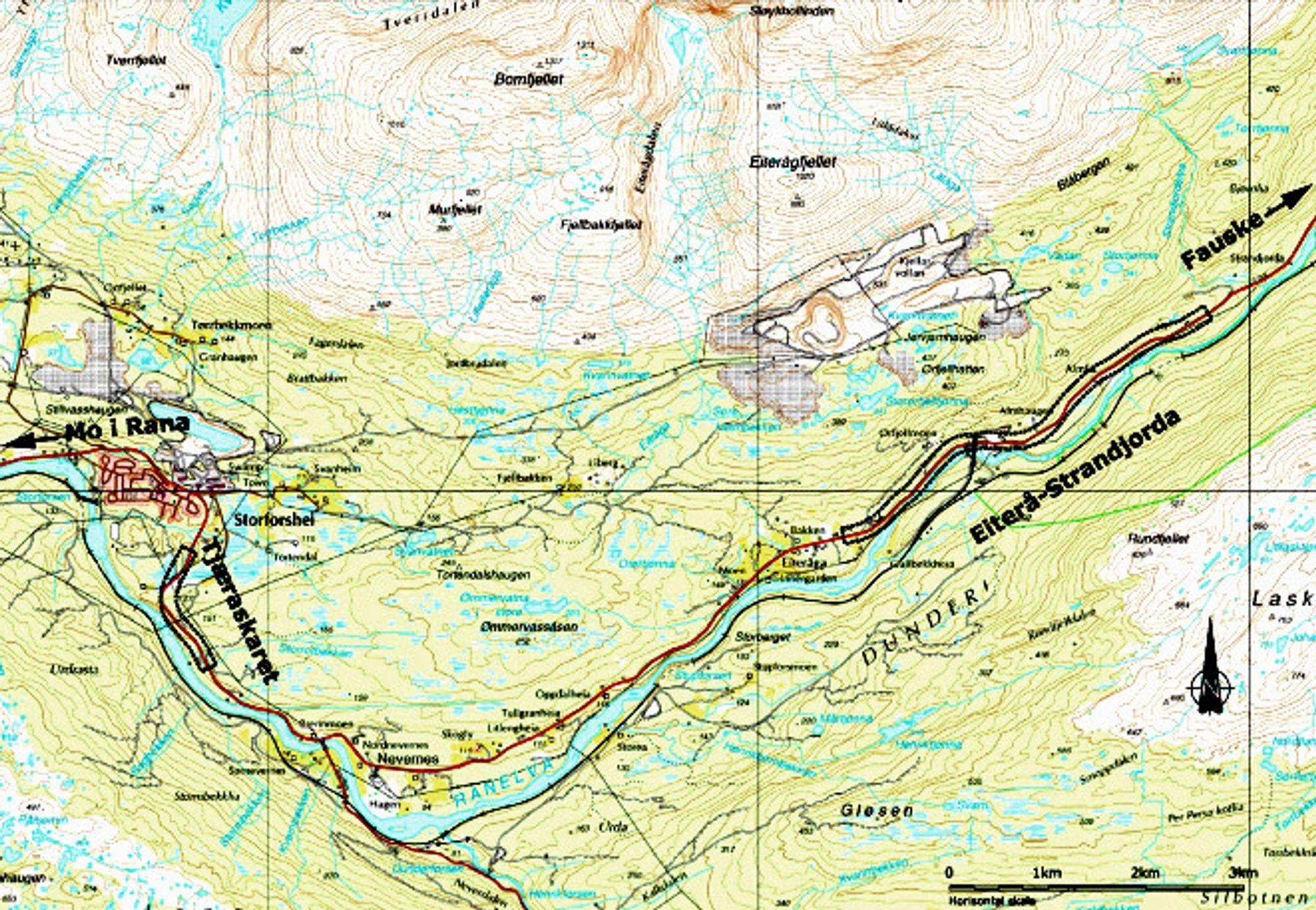 De to verste strekningene på E 6 gjennom Dunderlandsdalen blir utbedret innen 15. september neste år, men E 6 vil fortsatt ha lav standard gjennnom det meste av dalen.