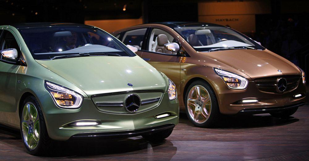 Mercedes-Benz viste fram elbilkonseptene E-cell og E-cell pluss (ladbar hybrid) på årets Frankfurtmesse.