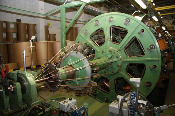 Kabeltvinne ved Nexans fabrikk i Halden.