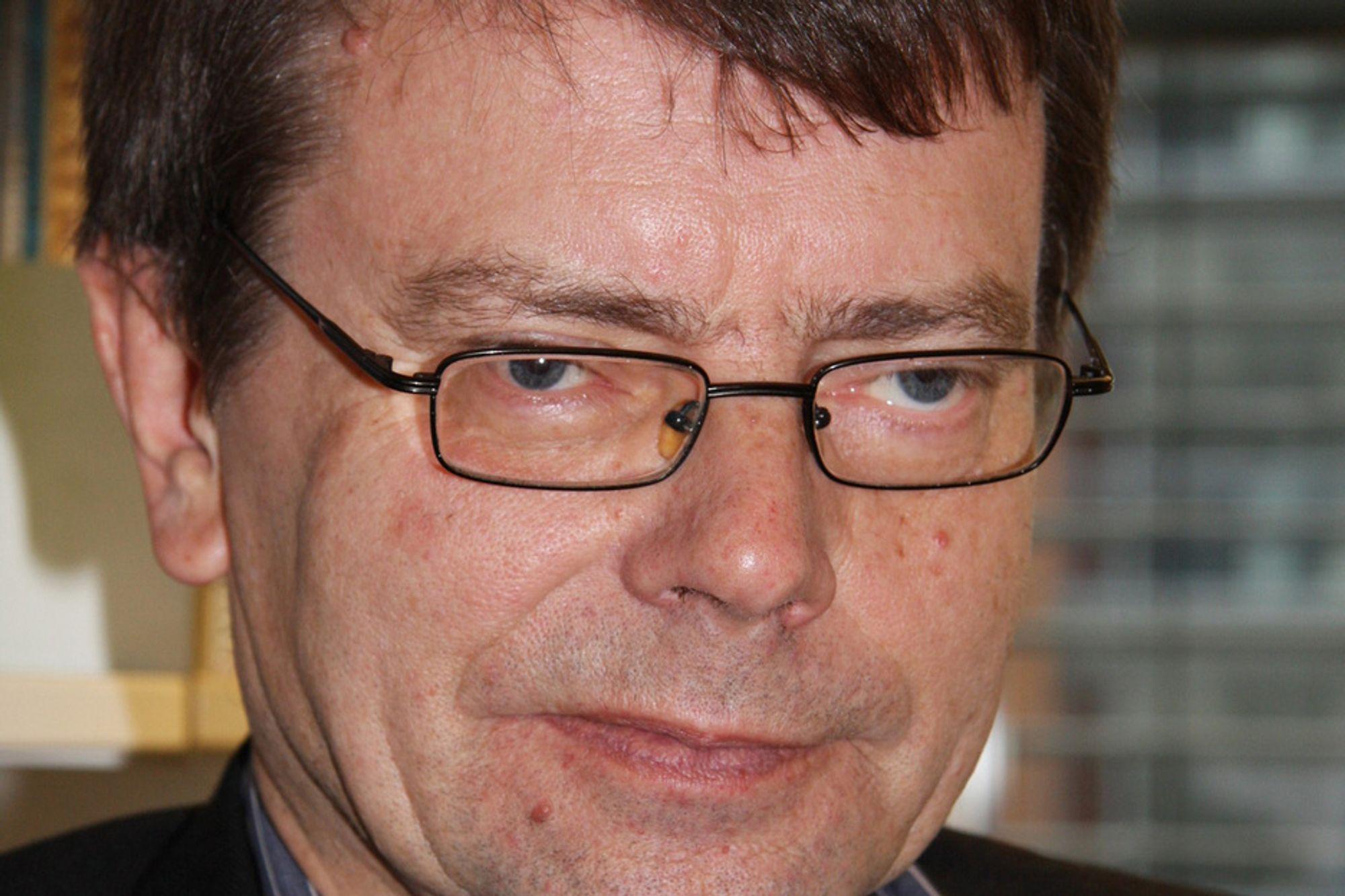 ALVORSSTUND: Professor Torger Reve og det maritime kluster sliter med å få finansiering til de seks neste gaveprofessoratene i superklusteret.