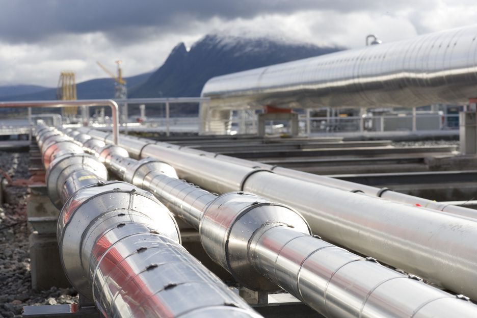 STOPPET: Gasseksporten til Storbritannia fra Ormen Lange på Nyhamna er stoppet på grunn av kulda. Faren er stor for at britene kan komme til å fryse på grunn av langvarig kulde i Norge.