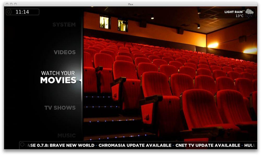 Plex gjør det enkelt å se film fra lokal disk eller Internett.