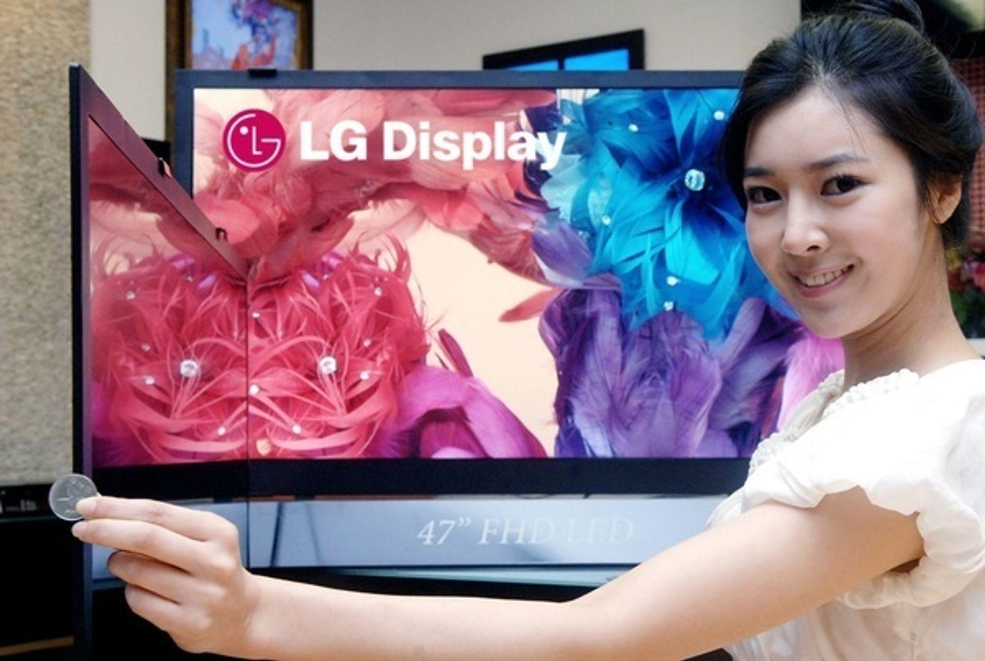LGs nye TV-er er kun 5,9 millimeter tykke.