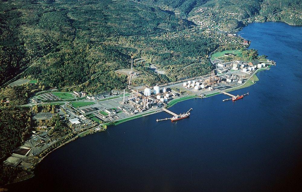RAFNES: Her på Ineos' industriområde på Rafnes skal Puralube Nordic etablere sitt nye reraffineringsanlegg for spillolje.
