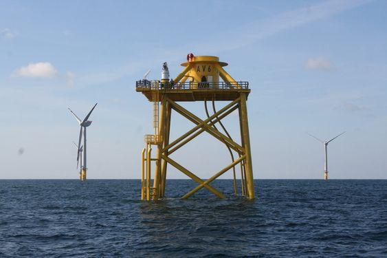 OWEC Tower-fundament til prosjektet alpha ventus, Tysklands første offshore vindmøllepark.