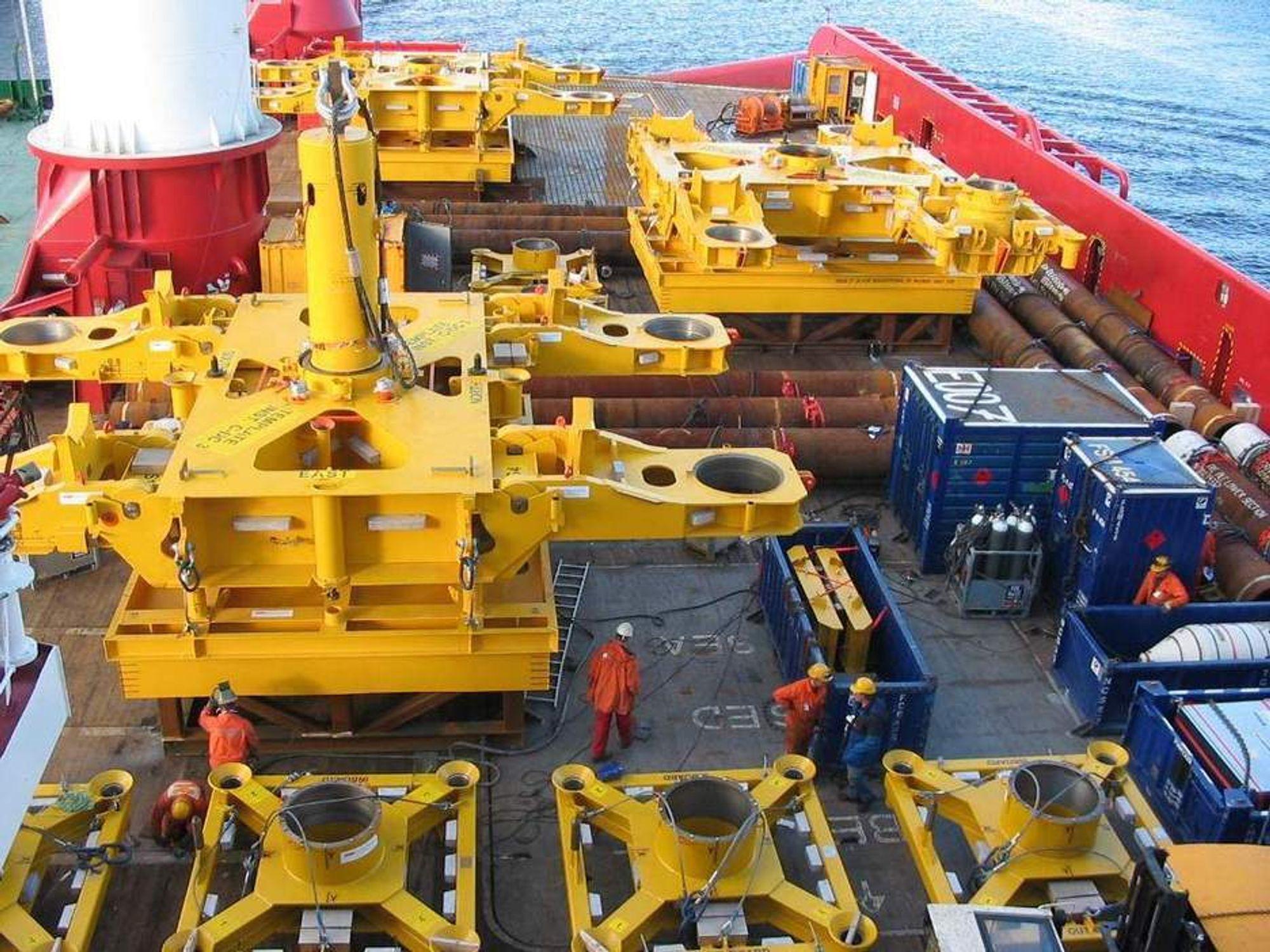 BUNNRAMMER: Denne typen bunnrammer skal leveres til Ekofisk fra FMC Technolgies og Grenland Group.