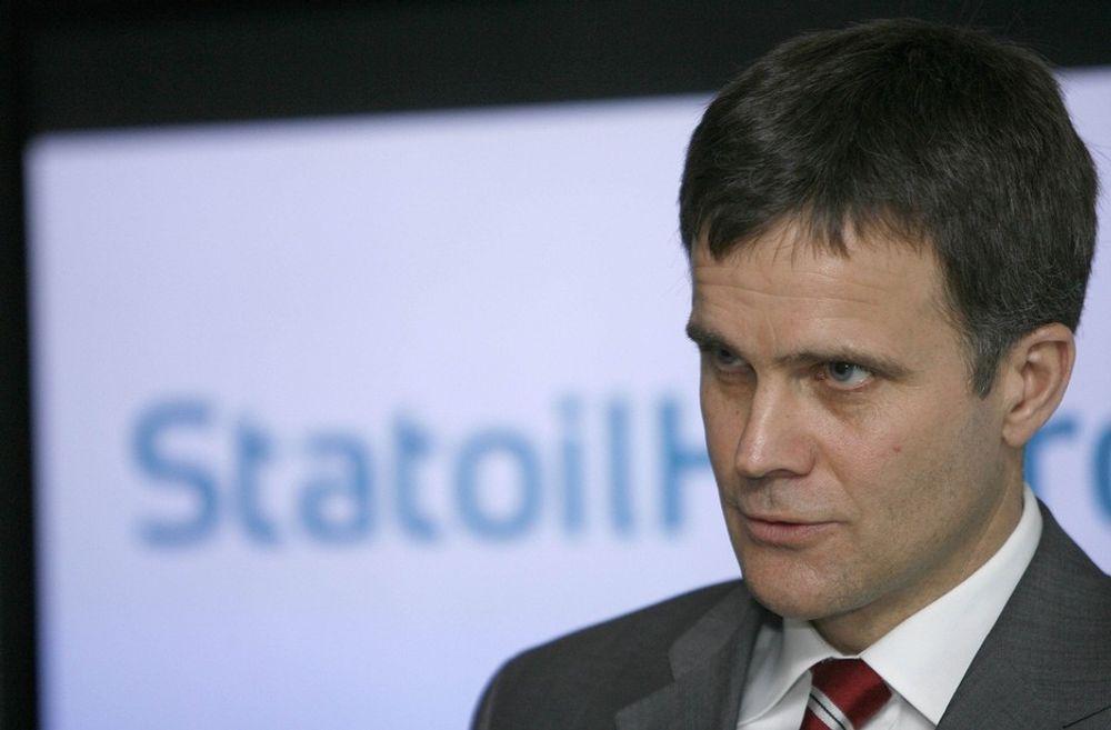 - Det er ikke riktig at jeg har kjempet for at det fusjonerte selskapet nå skal hete Statoil, understreket konsernsjef Helge Lund på onsdagens kapitalmarkedsdag i London.