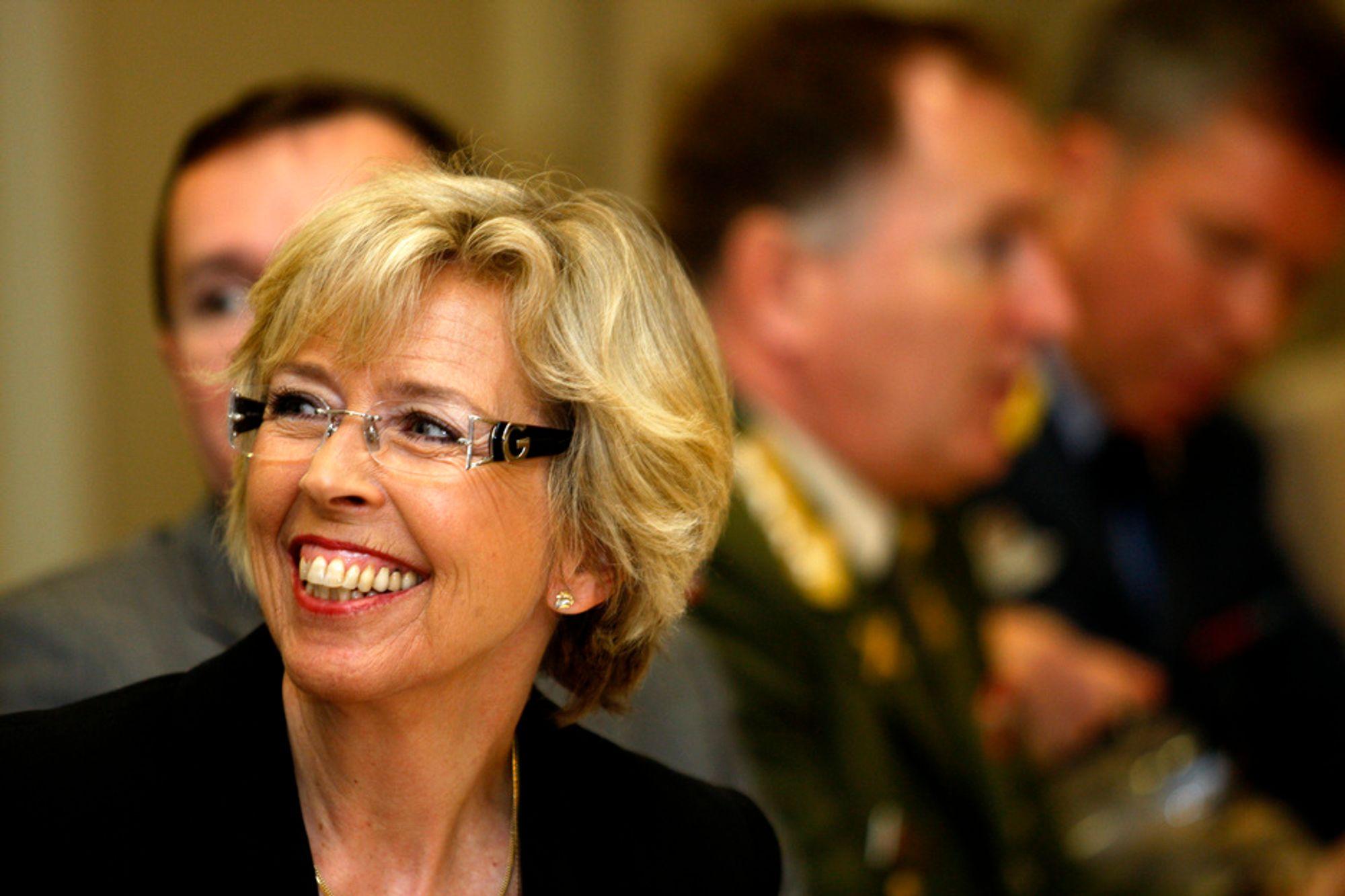 Forsvarsminister Anne Grethe Strøm Erichsen er trygg på at F-35 er det rette valget.