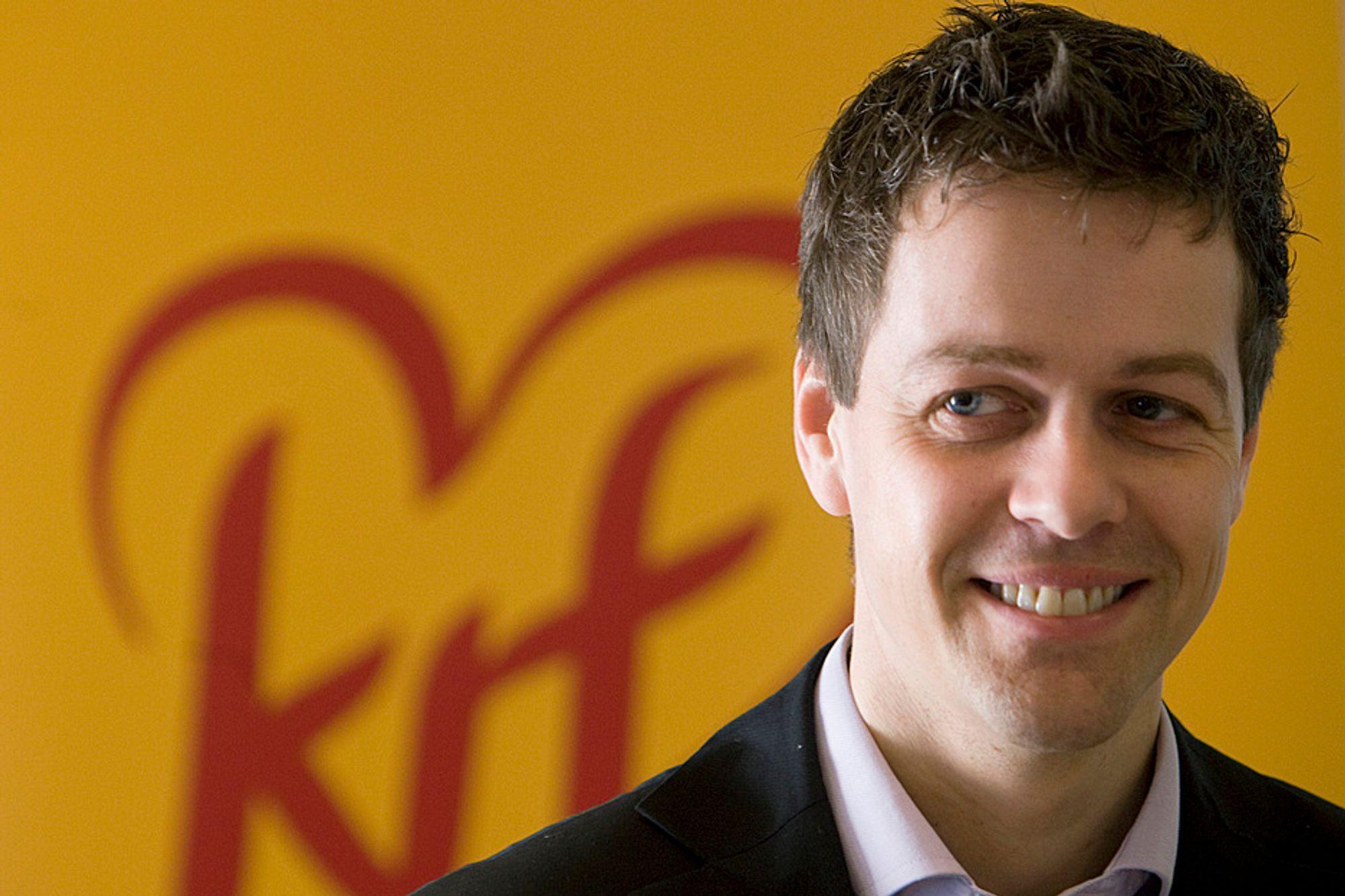 Knut Arild Hareide er leder for programkomitéen i KrF. Han mener staten bør kjøpe seg opp i Aker Solutions.