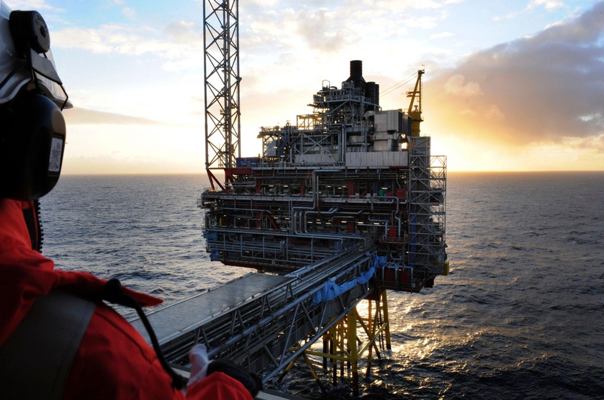 PÅ HELL: Oseberg-feltet har produsert nesten 80 prosent av sine ressurser, i likhet med mange av de største feltene på norsk sokkel. Nå krever Høyre mer handling for å berge oljenæringen.