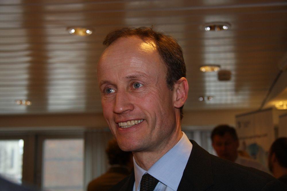 OPTIMISTISK: Enova-sjef Nils Kristian Nakstad håper å nå målet om 3 TWh vind innen utgangen av 2010.