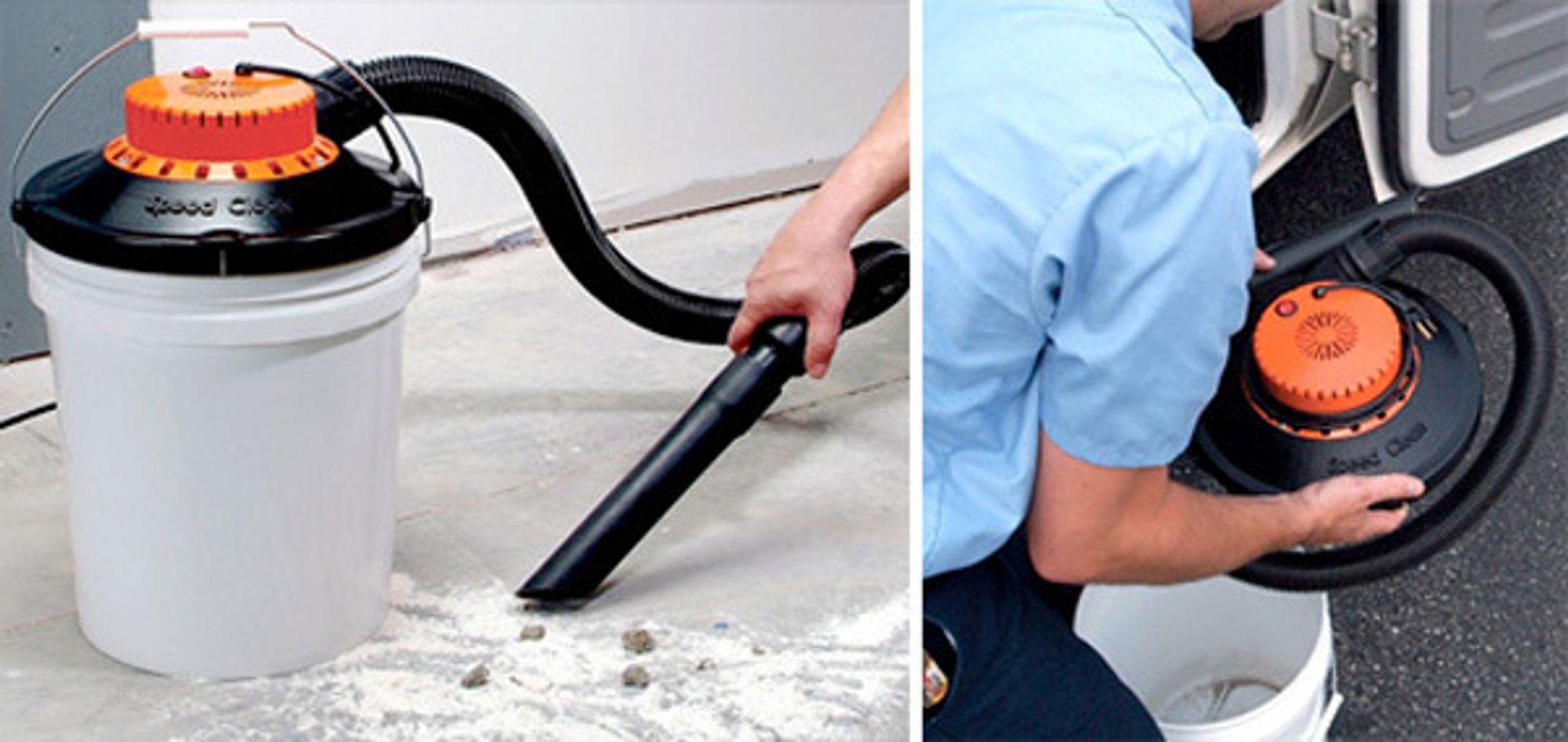 BUCKET VAC: Med denne støvsugeren kan du rydde unna opp til 20 liter smuss uten å bytte pose.