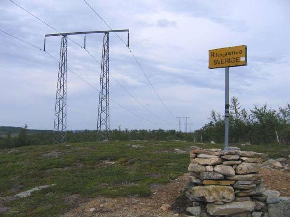 NY KRAFTLINJE: Dette er den gamle kraftlinjen Nea-Järpströmmen. Nå er den norske delen skiftet ut, og fra oktober blir importkapasiteten til Norge økt med 100 megawatt.