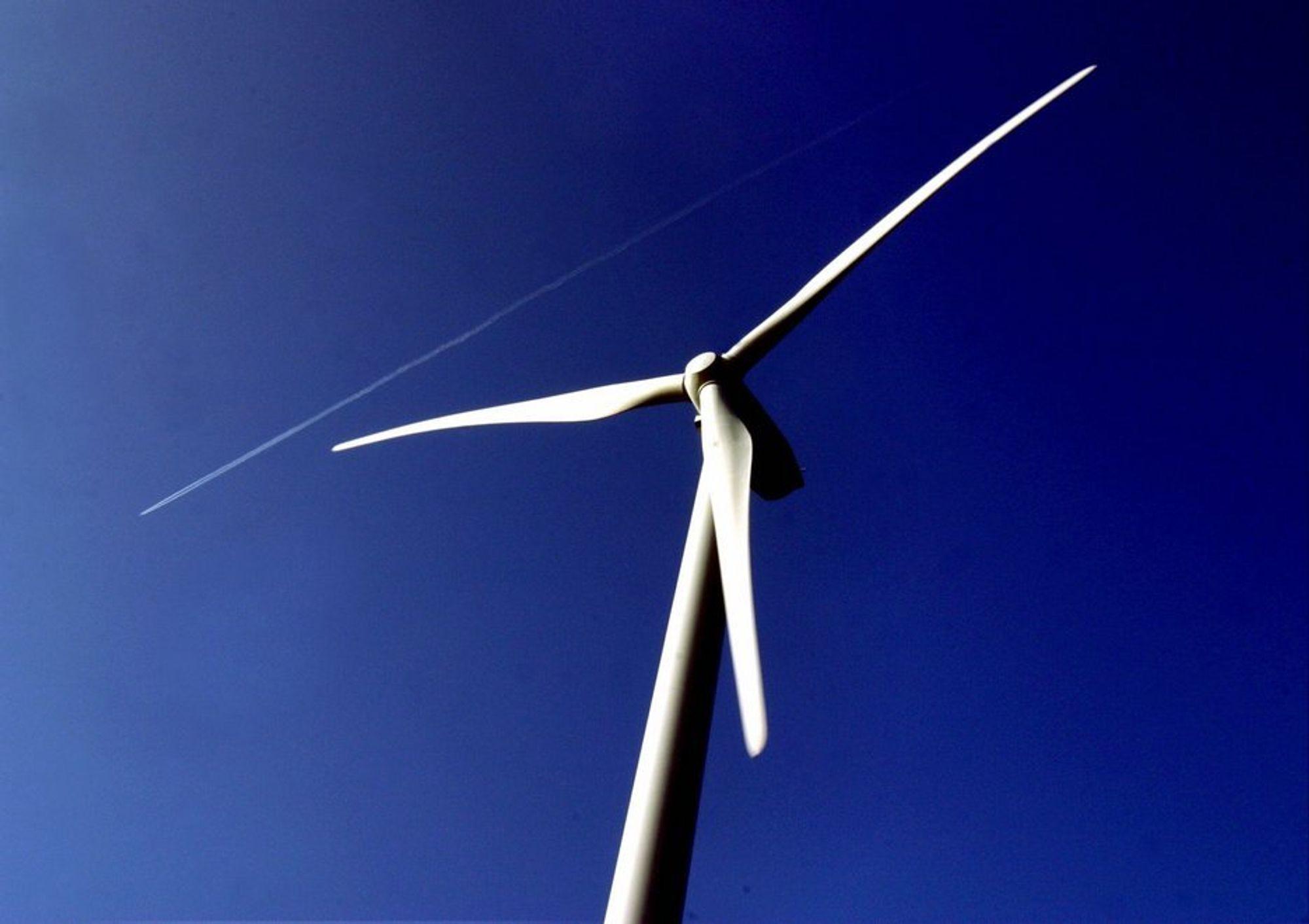 VENTETID: Finanskrisen har kuttet ventetiden på vindturbiner og svenkse bønder gleder seg.