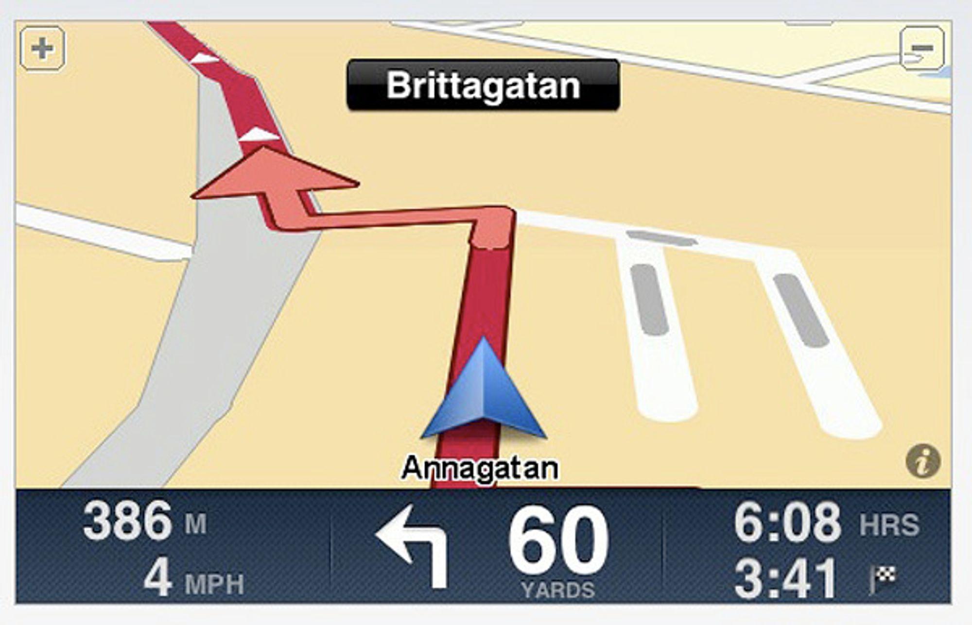 iPhone-navigasjonsløsningen fra TomTom er ikke billig. 489 kroner må du ut med for kart over Norden.