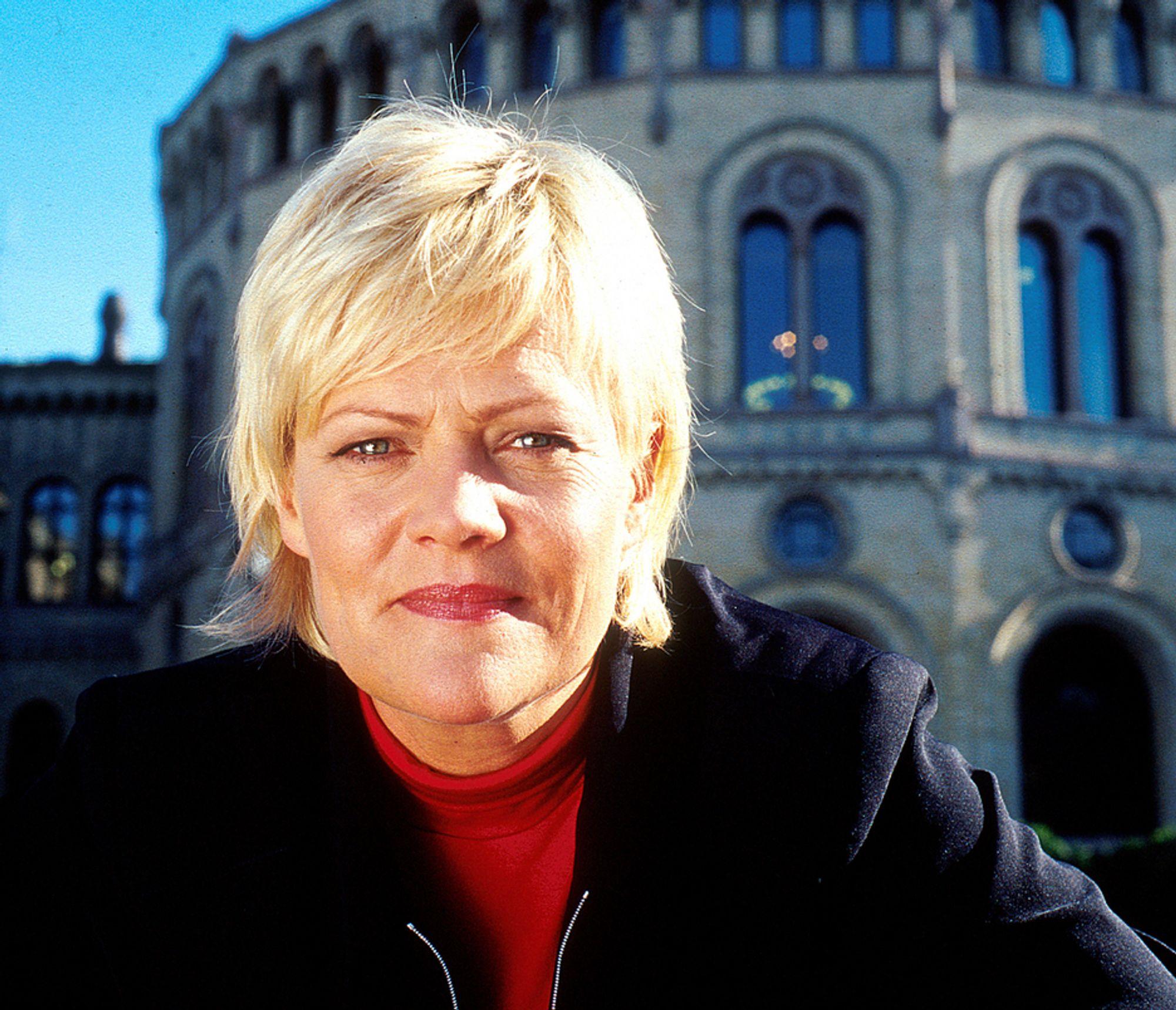 Finansminister og SV-leder Kristin Halvorsen.