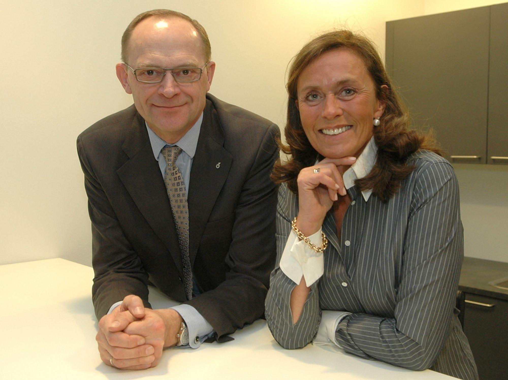 PÅ OPPKJØPSRAID: Flemmin Bligaard Pedersen og Beate W. Benzen fortsetter sine oppkjøp av norske rådgivende ingeniører. - Norge skal bli en sentral aktør for Rambøll-gruppen, sier de.