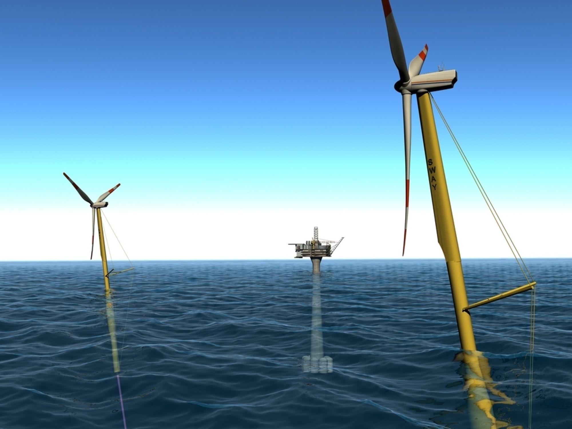 FEM ÅR: Sways 2,6 MW turbin skal bruke Hywinds infrastruktur og testes i fem år fra første kvartal 2013.