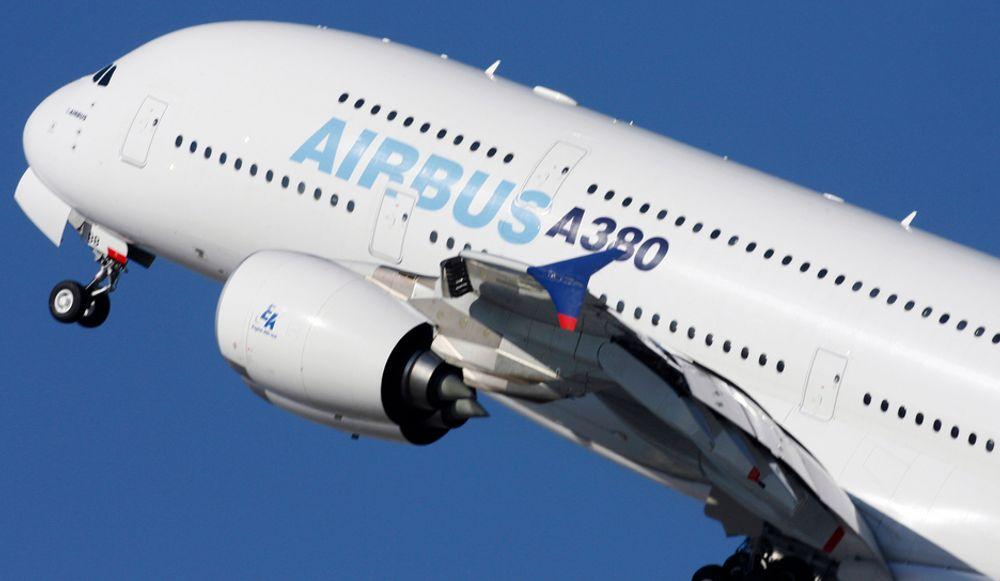 "Airbus skal også få sin ""miljø-jumbo"". De skal være noen dager unna en testflyging med et A380 med alternativt drivstoff."
