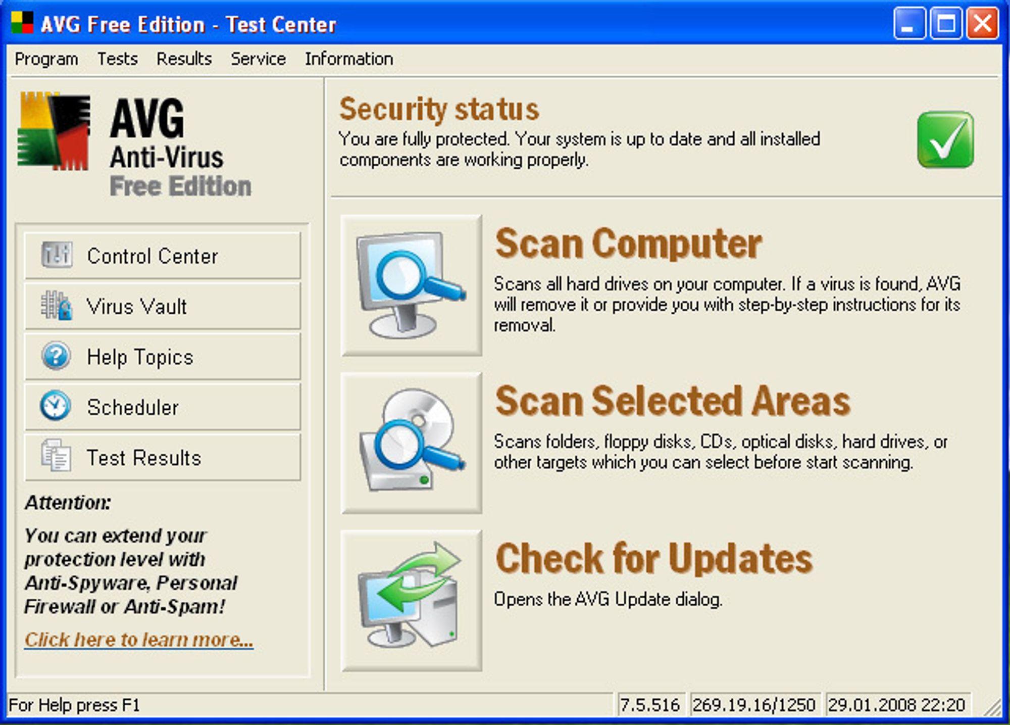 AVG Antivirus - gratis virusbeskyttelse