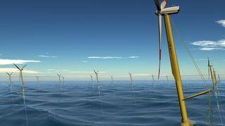 Første flytende vindmøllepark