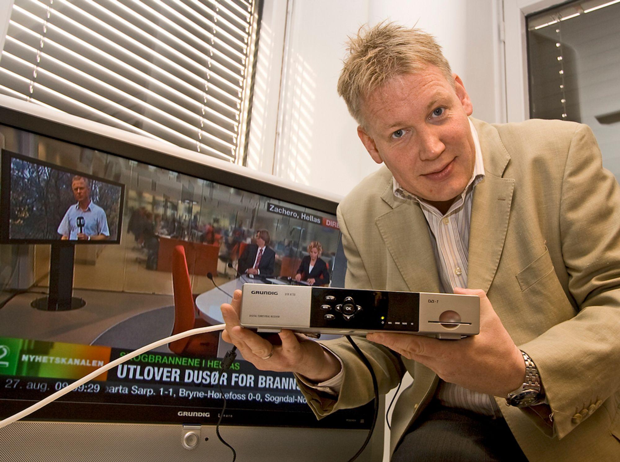 Mange er misfornøyde med signalkvaliteten i det digitale bakkenettet. - Feil type antenner, sier kommunikasjonsdirektør Svein Ove Søreide i RiksTV.