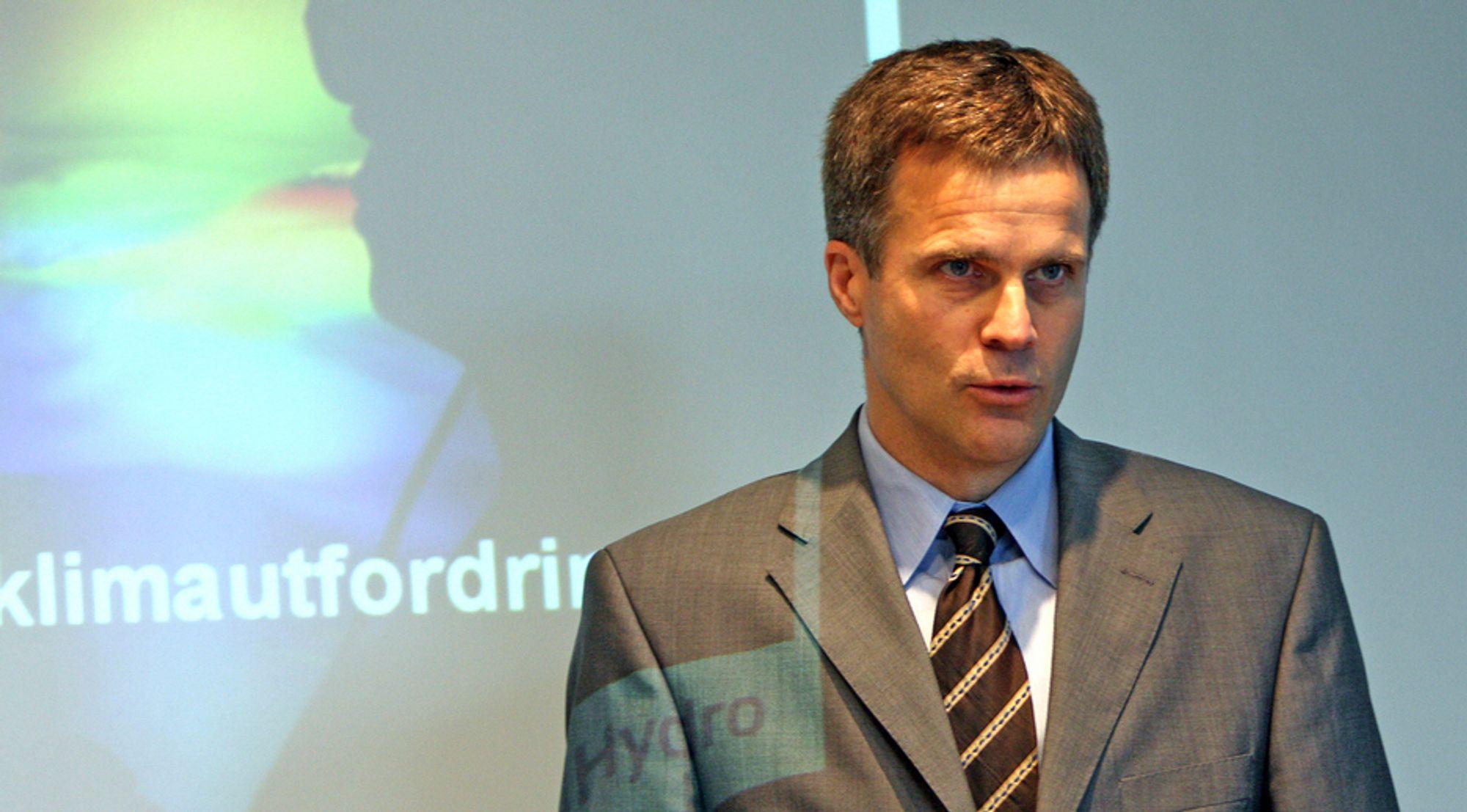 Konsernsjef Helge Lund i StatoilHydro.