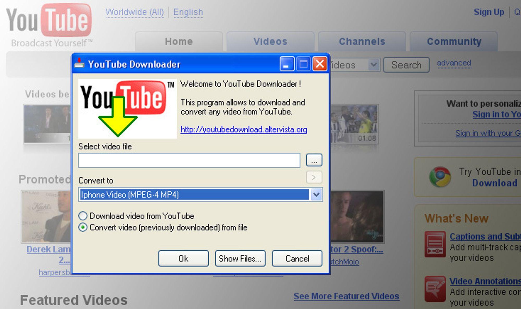 Ukens gratisprogram: Youtube Downloader