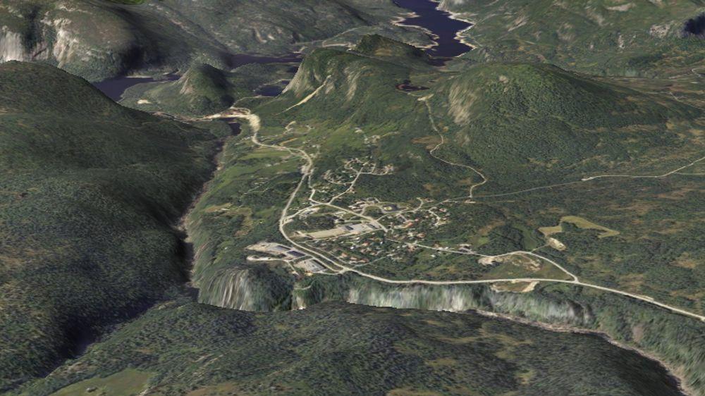 BREDBÅNDSBYGDA: Her i Bykle kommune i Aust-Agder er bredbåndstettheten størst i Norge.