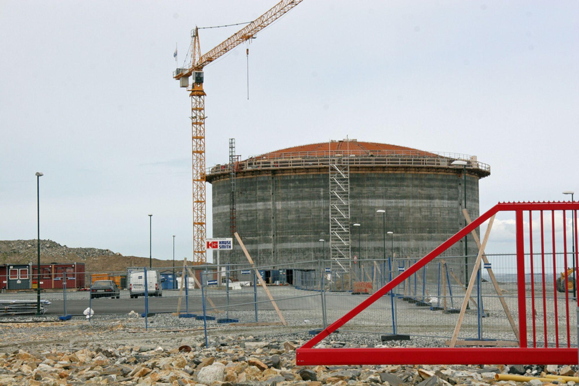 Lyses nye LNG anlegg i Risavika. tatt i juni 2008