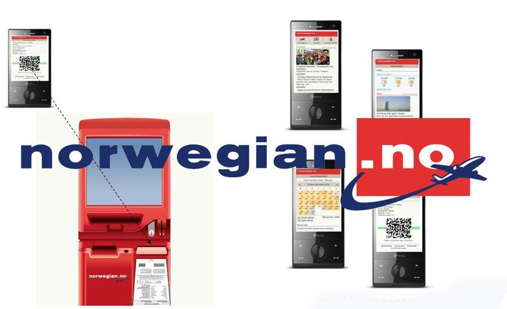 Norwegians nye mobilportal skal la deg bestille billetter direkte via mobilen. Og etterpå kan du bruke mobilen som billett.