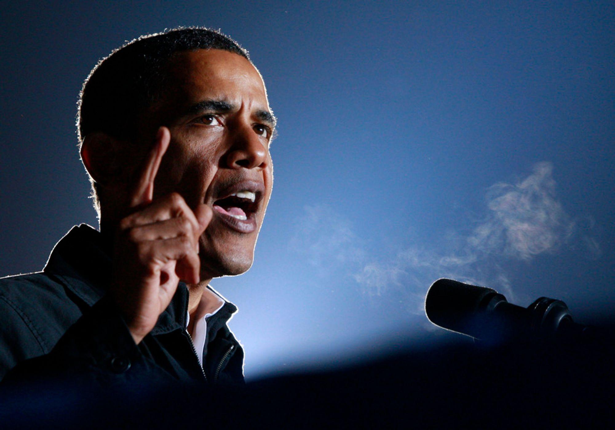 KLAR: Barack Obama er i ledelsen før valget i USA tar til.