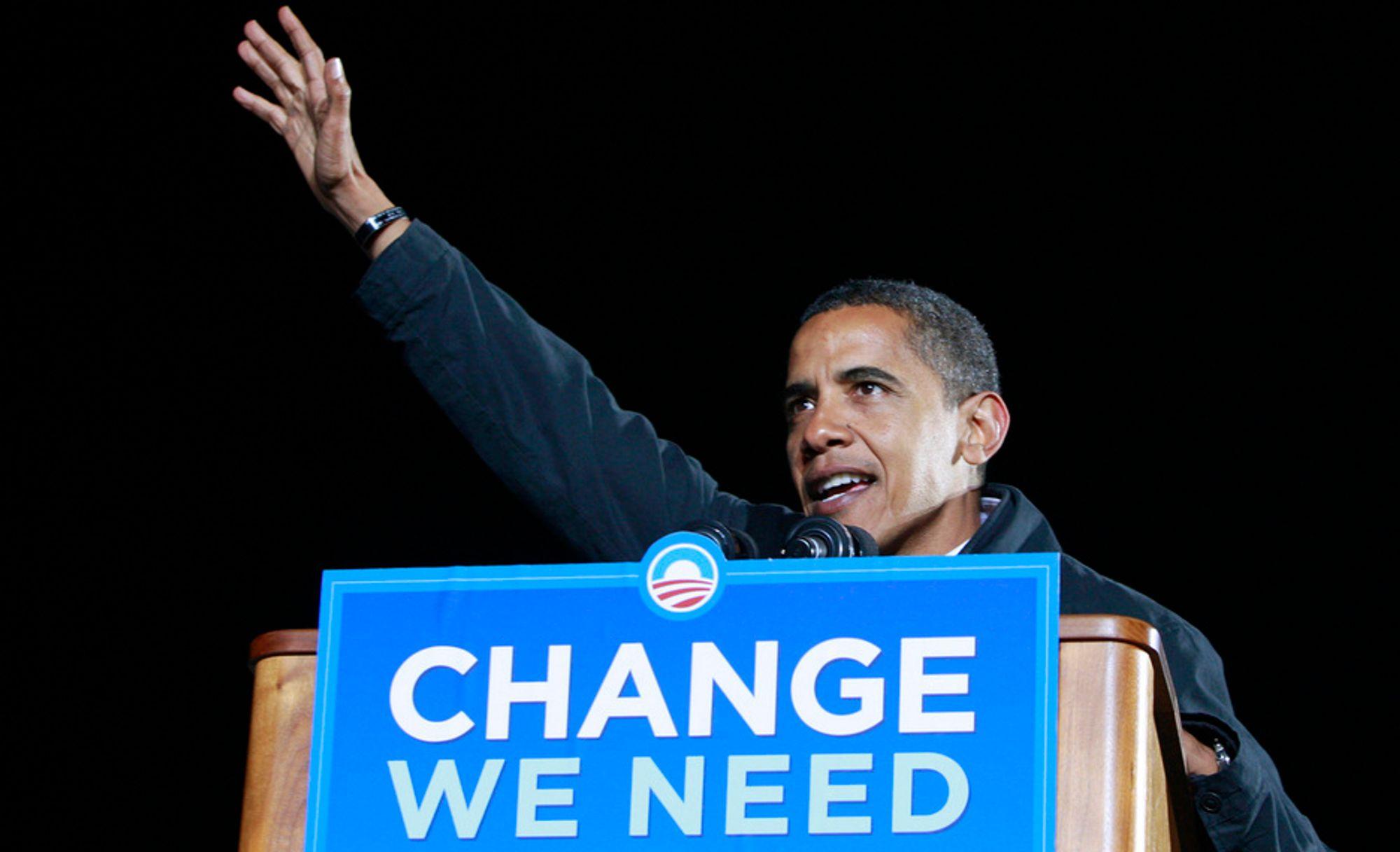 Demokratenes presidentkandidat Barack Obama.