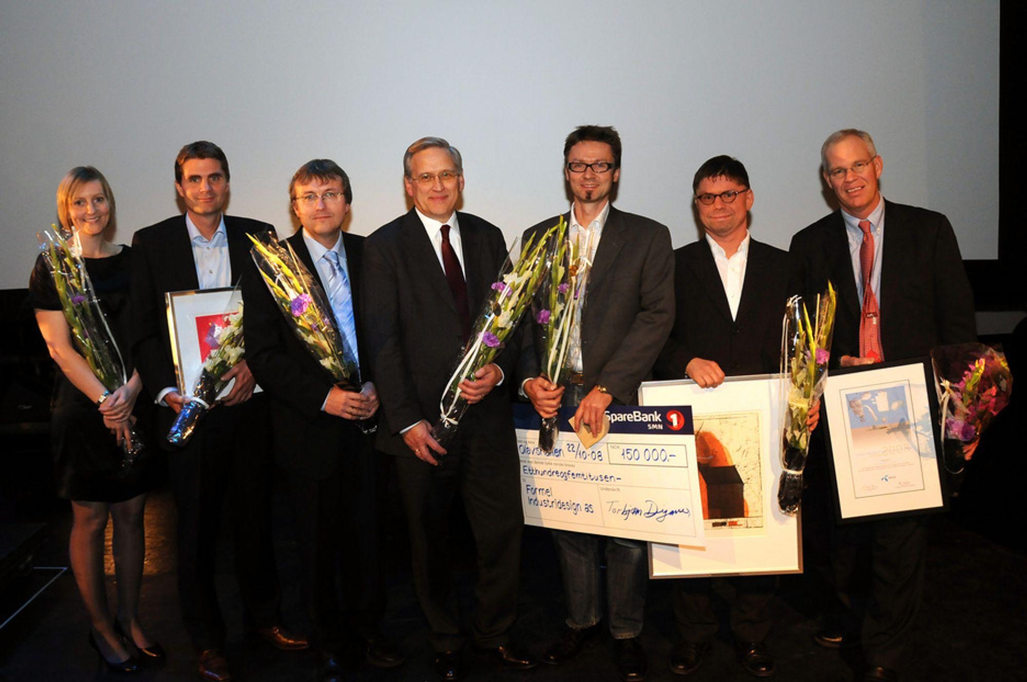 Her er vinnerne av Technoport Awards i 2008: Ingvild Haug, John Marcus Lervik, Simon Woodhouse, Oscar Grav, Geir Eide, Jan Nossen, Richard S. Ling